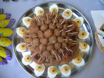 Kaszinó tojás, fasírt gombóc