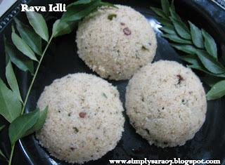 Rava Idli (Semolina Steamed Cake)