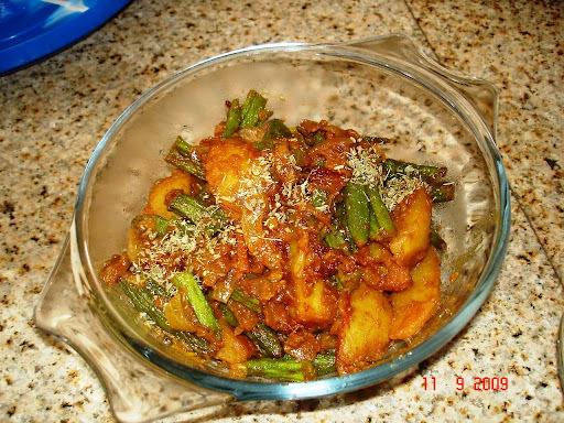 Potato with Okra: Aloo bhindi masala