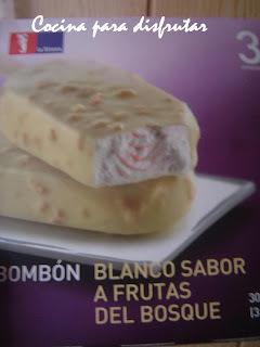 HELADOS DE CHOCOLATE BLANCO Y FRUTAS DEL BOSQUE DE LA SIRENA