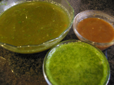 Paani Puri - Paani and Chutney