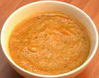 Crema y puré de zapallito y tomate