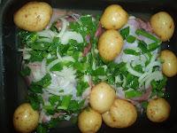 Vitela ao forno com batatas