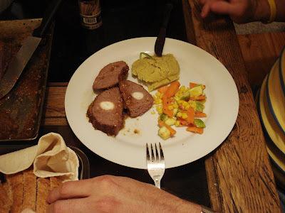 Rollo de carne con cocacola