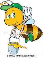 de bolo com mel de abelha