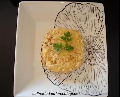 risoto de alho poró com arroz parboilizado