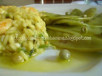 risoto com sobras de camarão e sobras de arroz
