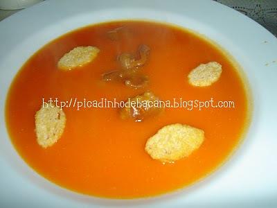 Creme de Abóbora e Mandioquinha com Carne-Seca