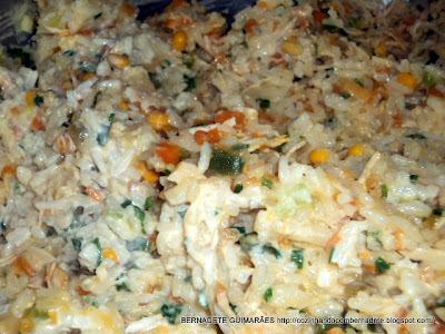 risoto de frango caipira