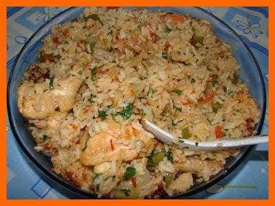 arroz com galinha para 100 pessoas