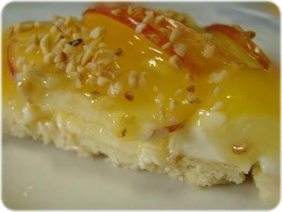Torta de maçã com creme de laranja (e sua variação mini-tortinha)