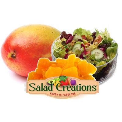 salada de verduras com manga