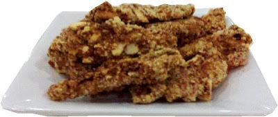 Fajitas de pollo almendradas