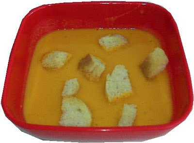 Crema de zanahoria