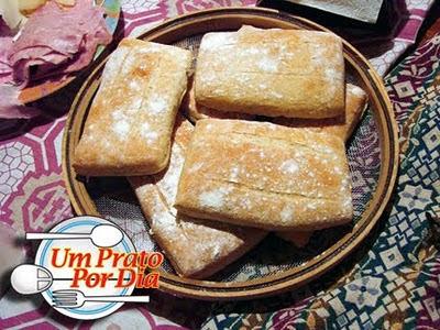 Pão Ciabatta caseiro…É o Prato do Dia