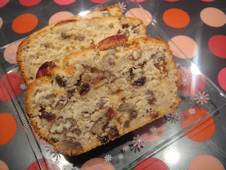 Banana bread with sultanas and pecans