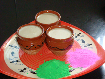 "Celebrate ""HOLI"" with a glass of special ""THANDAI"""