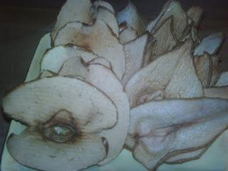 Chips de pera y manzana