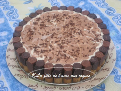 GÂTEAU AU FROMAGE, CHOCOLAT ET AMARETTO