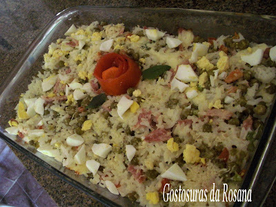 de arroz de forno sem ovos e sem queijo e presunto