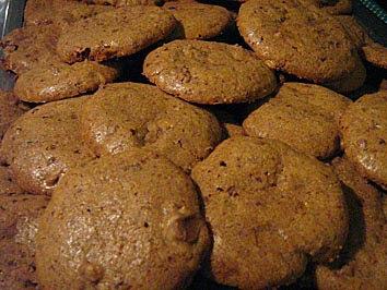 Biscoitos com raspas de chocolate