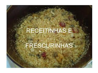 farofa com amendoim castanha e ameixa