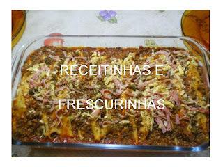 Panquecas de carne e presunto/queijo