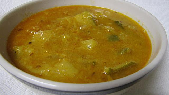 zucchini sambar