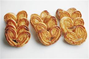palmeritas caseras con tapas de empanadas