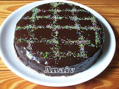 Torta humeda de chocolate con ganache