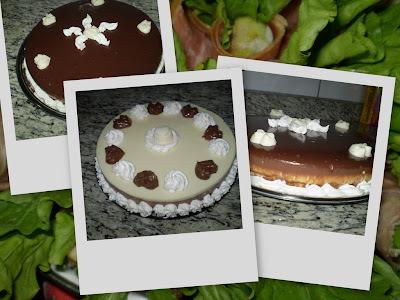 Torta 3 Mousses e Torta Holandesa de Maracuja