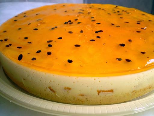 base de bolo torta mousse de maracuja