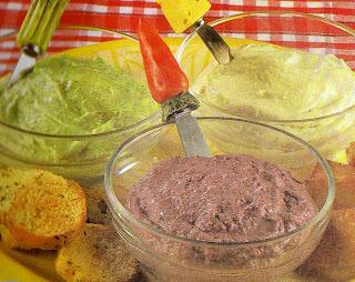 patê de queijo requeijão parmesão gorgonzola
