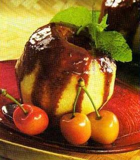 Maçã Verde com Calda de Chocolate