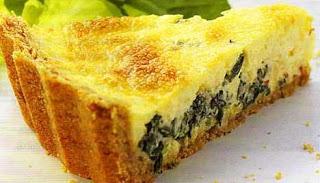 Torta Cream Craker com Recheio de Espinafre
