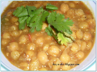 Chatpate Chole/Chickpea Recipe