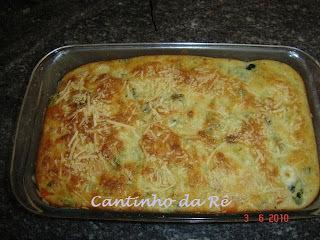 Torta souflé de legumes