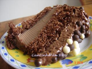 de bolo trufado de chocolate para aniversario