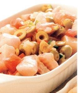 Ceviche de pescado blanco y salmón