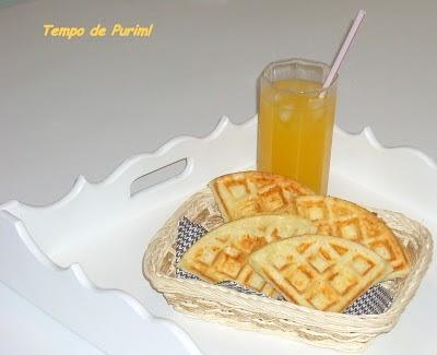 Waffle de queijo  parmesão