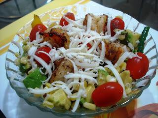 Prawns in Garlic Butter Salad