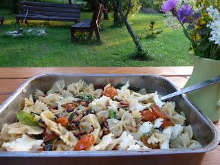 Letné cestoviny s pečenou zeleninou