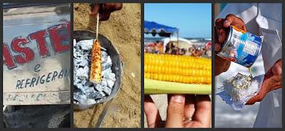 o que levar de comida para uma na praia