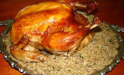recheio para encher frango para assar