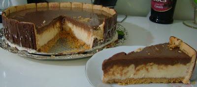 torta holandesa com sorvete de creme