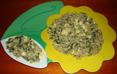 de mexido de espinafre com ovo