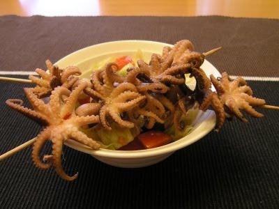 Jemná dusená chobotnica so šalátom podľa Jamieho Olivera