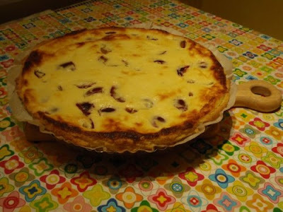 čučoriedkový koláč s tvarohom