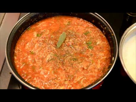 ¡Salsa de Pollo para espaguetis deliciosa!