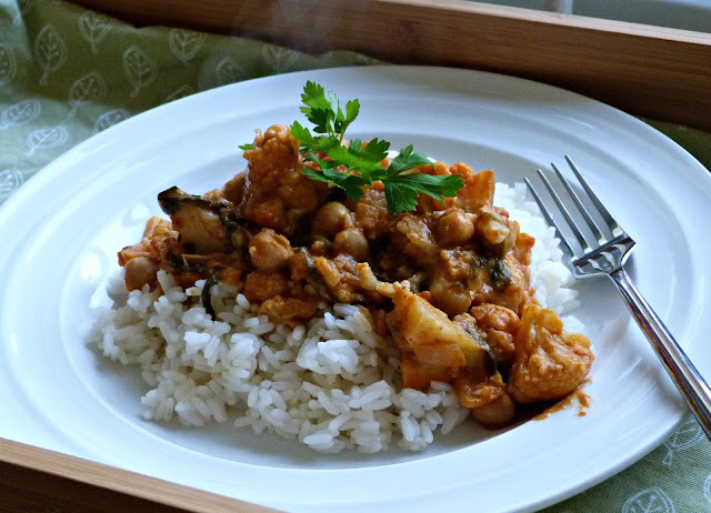 Recipe ~ Chickpea and vegetable curry